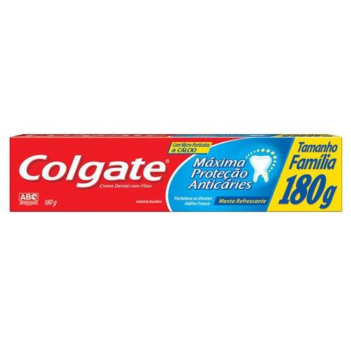 Creme Dental Colgate Máxima Proteção Anticáries 180g
