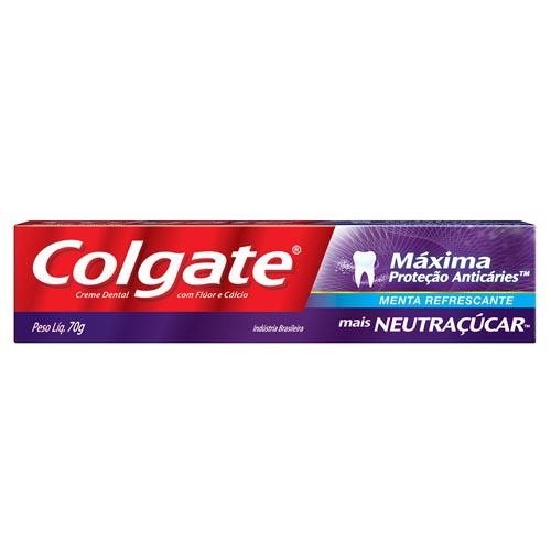 Creme Dental Colgate Máxima Proteção Anticáries Neutraçucar 70g