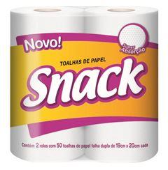 Toalha de Papel Snack Folha Dupla 2 Rolos 50 Folhas