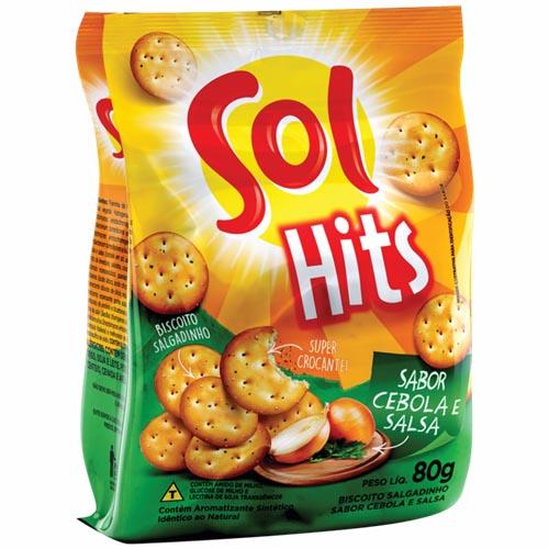 Biscoito Salgado Sol Hits Cebola e Salsa 80g