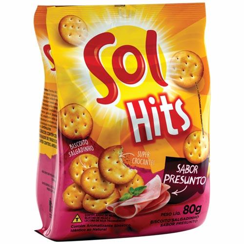 Biscoito Salgado Sol Hits Presunto 80g