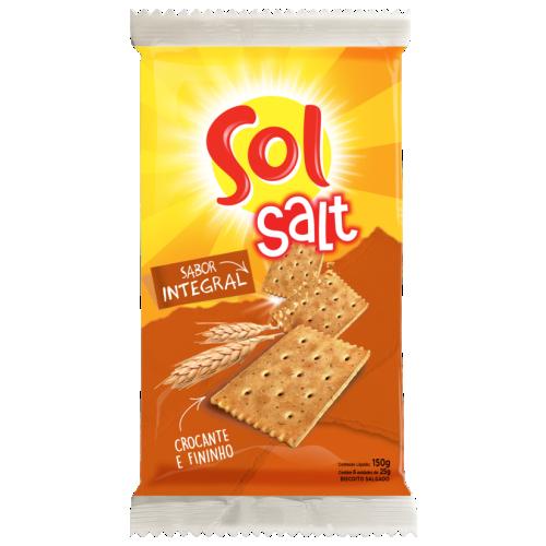 Biscoito Salgado Sol Salt Integral 150g