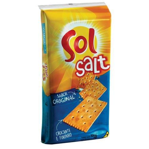 Biscoito Salgado Sol Salt Original 150g