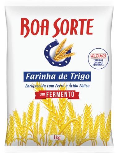 Farinha de Trigo Boa Sorte com Fermento 1Kg