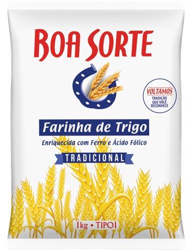 Farinha de Trigo Boa Sorte Especial 1Kg