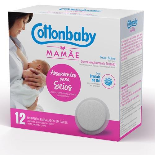 Absorvente Cottonbaby para Seios com 12 und