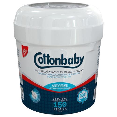 Hastes Flexíveis Cottonbaby Cartucho com 150 und