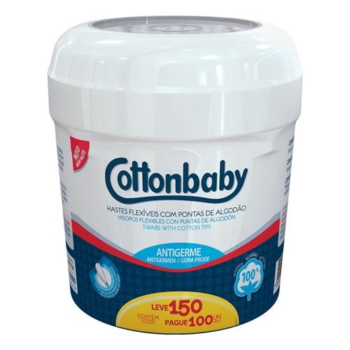 Hastes Flexíveis Cottonbaby Pote Leve 150 Pague 100 und