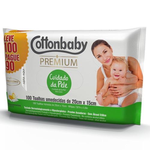 Toalha Umedecida Cottonbaby Premium Cuidado da Pele Leve 100 Pague 90 und