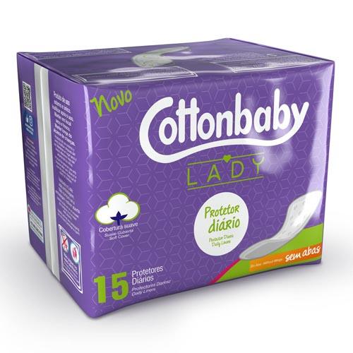 Protetor Diário Cottonbaby sem Abas com 15 und