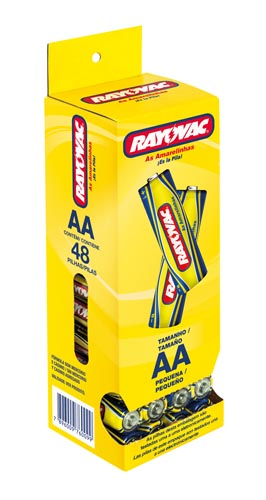 Pilha Rayovac Amarela AA Display com 48 und
