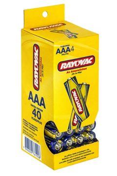 Pilha Zinco Rayovac Tamanho AAA Tubo com 40 und